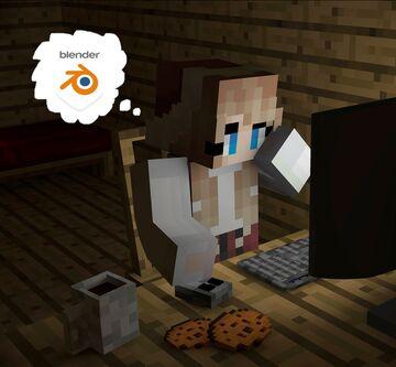 Minecraft Blender Rendering Practice Minecraft Blog