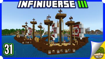 Building A Giant Ship   31   Minecraft Bedrock Infiniverse S3 (MCPE/Xbox/PS4/Switch/Windows10) Minecraft Blog