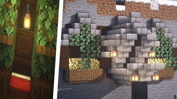 Minecraft   Mountain House Idea   How to Build a Mountain House Tutorial Minecraft Blog