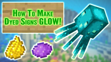 How To Make Dyed Signs Glow in Minecraft 1.17 Minecraft Blog