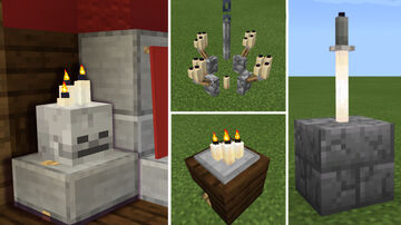Build Hacks with candles! Chandelier, skull candleholder and more! Minecraft Blog