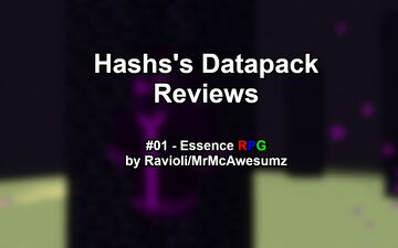 Hashs's Datapack Reviews #01 - Essence RPG Minecraft Blog