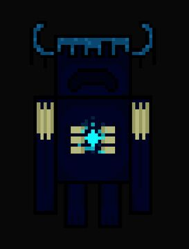 I made this warden pixel art, do you like it? Minecraft Blog