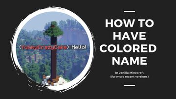 How to have a colored name (for more recent version) Minecraft Blog