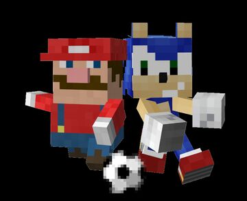 Mario and Sonic at the Olympic Games In Minecraft Minecraft Blog
