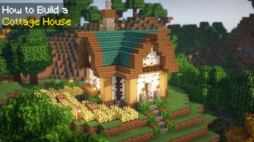 ⛏️ Minecraft   How to Build a Cottage House 🏡 Minecraft Blog