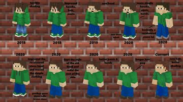Evolution of my Minecraft Skin | 2018 - 2021 Minecraft Blog