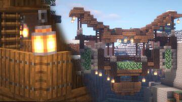 Minecraft | Mountain Bridge Idea | How to Build A Mountain Bridge Tutorial Minecraft Blog