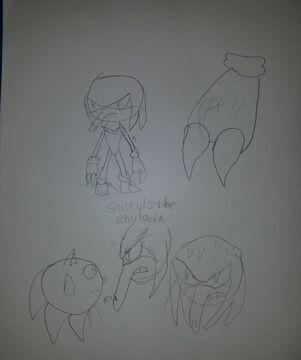 I found some old art of my Echidna OC Minecraft Blog