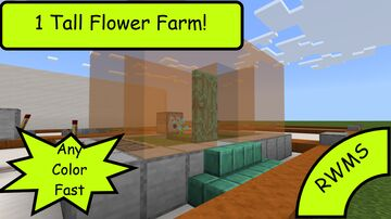 1 Tall Flower Farm. Get Any Color You Want Fast! Minecraft Blog