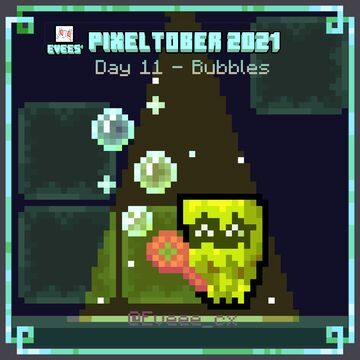 Glare playing with bubbles! - Pixeltober Day 11 Minecraft Blog