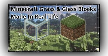Minecraft Grass & Glass Blocks Made In Real Life Minecraft Blog