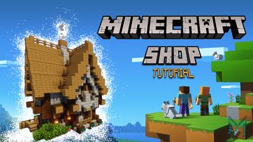 Minecraft SHOP/HOUSE medieval tutorial Minecraft Blog