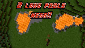 2 LAVA POOLS NEAR EACH OTHER!! Minecraft Blog