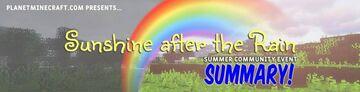 Sunshine After the Rain Event Summary Minecraft Blog