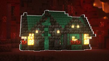 Minecraft | Ultimate Nether House Idea | How to Build a Nether House Tutorial Minecraft Blog