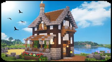How to Build a FARMHOUSE Minecraft Blog