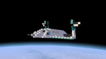 Minecraft Virgin Galactic SpaceShipTwo above Earth's atmosphere Minecraft Blog