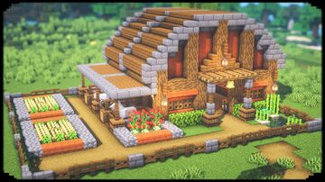Simple Barn With Stables Minecraft Blog