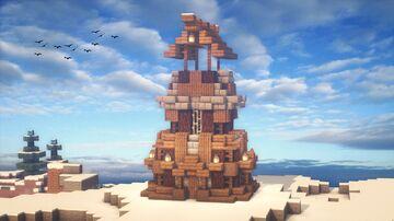 Minecraft | Watchtower Idea | How to Build a Watchtower Tutorial Minecraft Blog