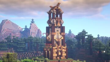 Minecraft   How To Build A Medieval Watchtower   Medieval Watchtower Idea Minecraft Blog