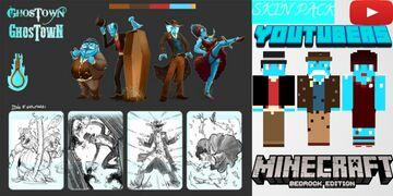 Urban Rivals - Ghostown : Concept Arts Skin Pack Minecraft Blog
