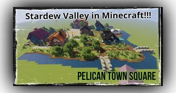 Minecraft Player Builds Beautiful Pelican Town Square Minecraft Blog