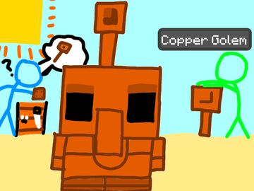 Copper Golem Drawing Minecraft Blog