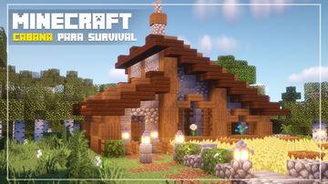 Minecraft Tutorial | How to Build a Cozy Cabin Minecraft Blog