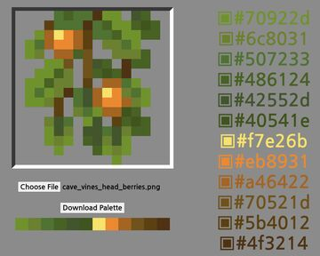 Palette Puller - Extract palettes from pixel art! Minecraft Blog