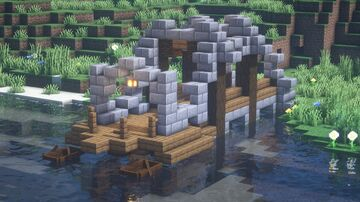 Minecraft | Fishing Spot Idea | How To Make Fishing Spot Tutorial Minecraft Blog