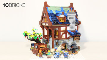 LEGO Ideas 21325 Medieval Blacksmith Speed Build - 4K Minecraft Blog
