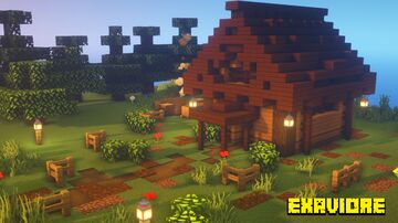 Simple Starter Cabin - Quick and Easy Tutorial Timelapse! Minecraft Blog