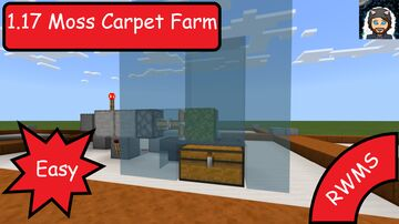 Really Easy 1.17 Bedrock Moss Carpet Farm Minecraft Blog
