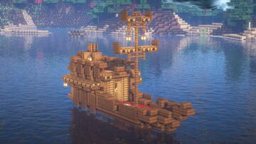 Minecraft | Survival Boat Base Idea | How to build Survival Boat Base Tutorial Minecraft Blog