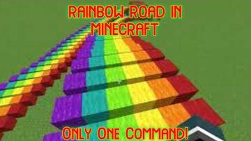 Rainbow Road Under Your Feet! (One Command Block Creation) Minecraft Blog