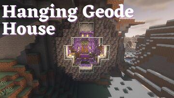 Hanging Amethyst Geode House Tutorial Minecraft Blog