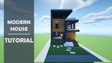 Minecraft : How to Build a Small Modern House #1 || Tutorial Minecraft Blog