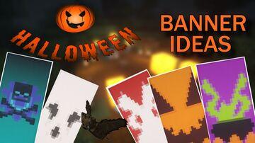 Minecraft | 5 BEST SPOOKY Banner Ideas (HALLOWEEN SPECIAL) Minecraft Blog