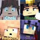 Chell, Eileen, Rebecca, & Stella (4 Minecraft Girls) Minecraft Blog