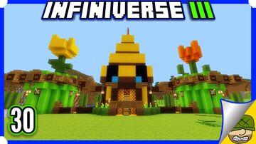 ULTRA Automatic Bee Farm   30   Minecraft Bedrock Infiniverse S3 Minecraft Blog