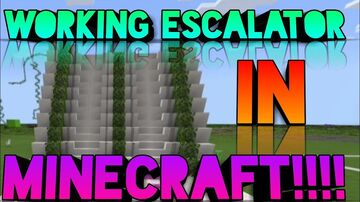 Escalator in Bedrock! Minecraft Blog