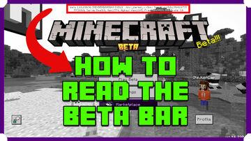 How To Read The Minecraft Bedrock Beta Text Bar Minecraft Blog