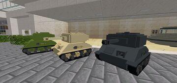 [Vehicle] Military Tanks I created in Blockbench Minecraft Blog