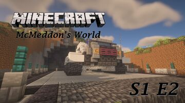 Minecraft McMeddon's World S1 E2 - 1st Step of My Base & Debris Mining Minecraft Blog