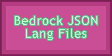 JSON Bedrock Lang files Minecraft Blog