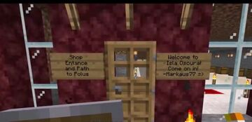 Getting to my Isla Oscura shop on the Nowhere Land Minecraft server Minecraft Blog