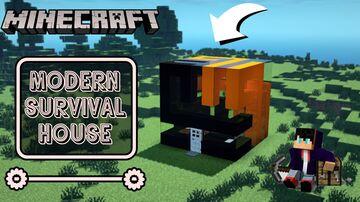 Minecraft: 7x7 Modern Survival House || Tutorial Minecraft Blog