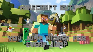 Minecraft BUT: You jump higher for every jump! Minecraft Data Pack