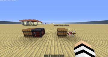 WORKING Fletching Table and Smithing Table! v0.0.1 Minecraft Data Pack